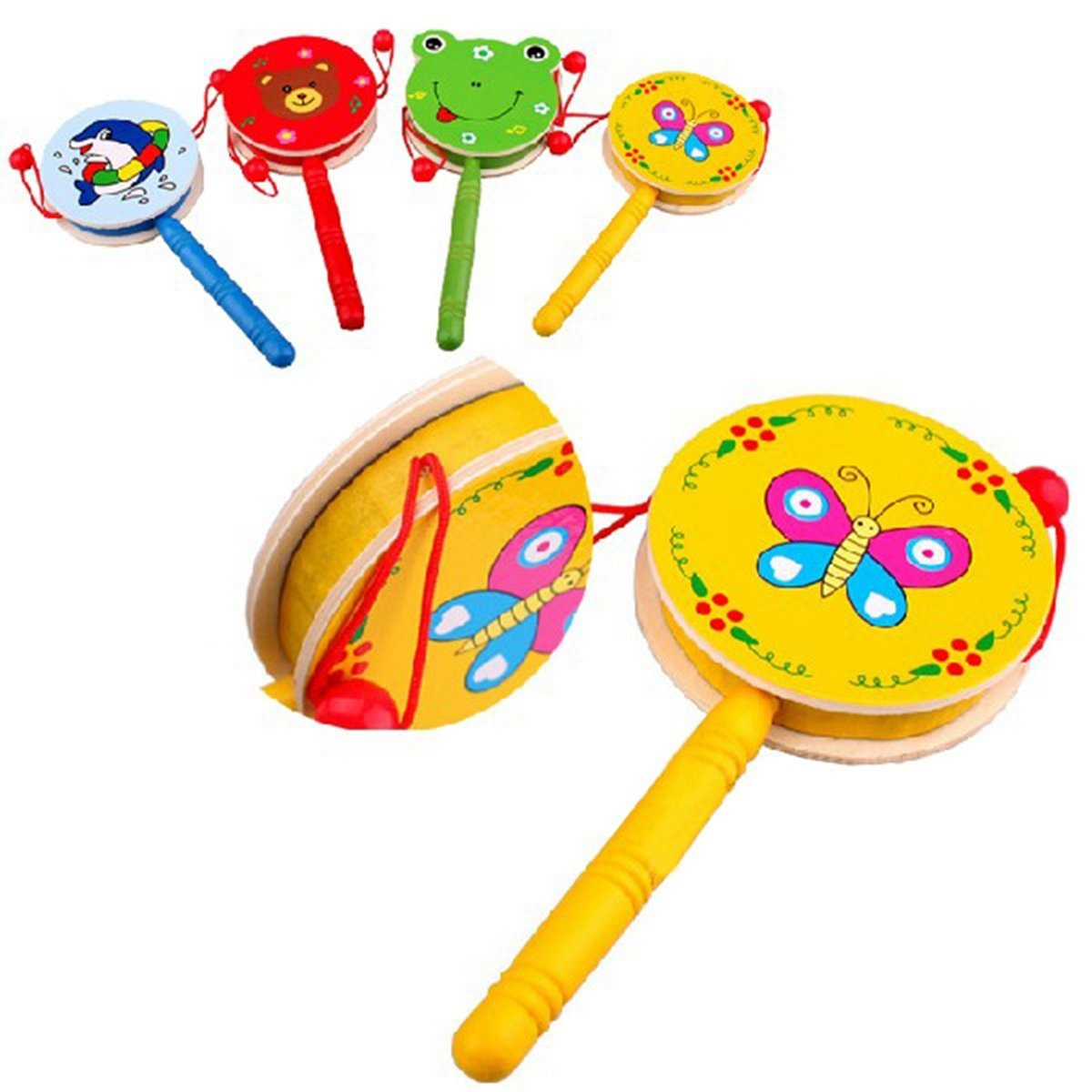 HOT-SALE-Baby-Kid-Wooden-Musical-Hand-Bell-Shaking-Rattle-Drum-Toy